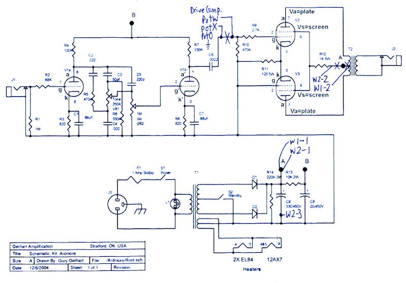 Dan Becker's Power Scaled Otto 8 watt Amplifier Build