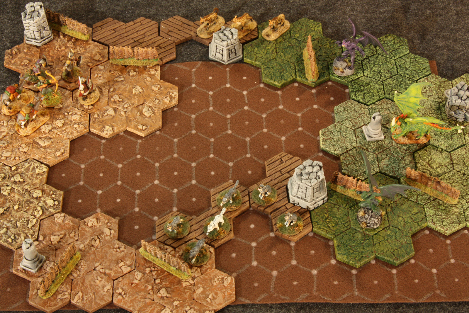 Dan Becker's Hex Felt Mats and More Hex Tiles for 28 mm Miniatures