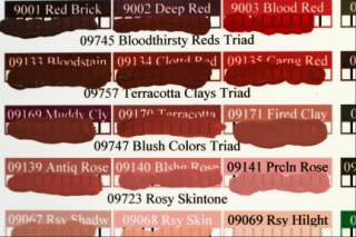 dan becker's paint swatch charts